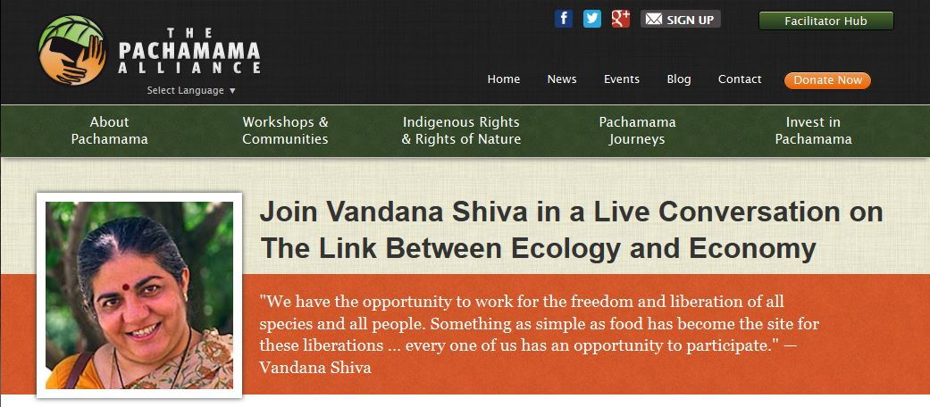 Join Vandana Shiva in a Live Conversation on The Link Between Ecology and Economy