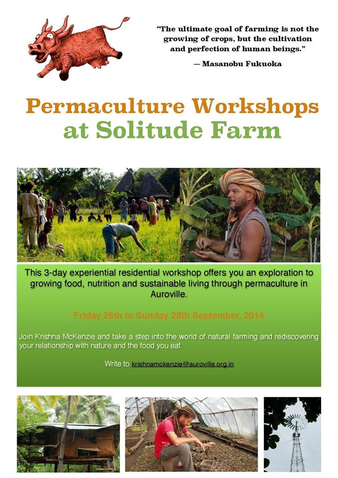 Permaculture Workshops at Solitude Farm, Auroville