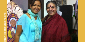March with Vandana Shiva and OCA at the People's Climate March in NYC