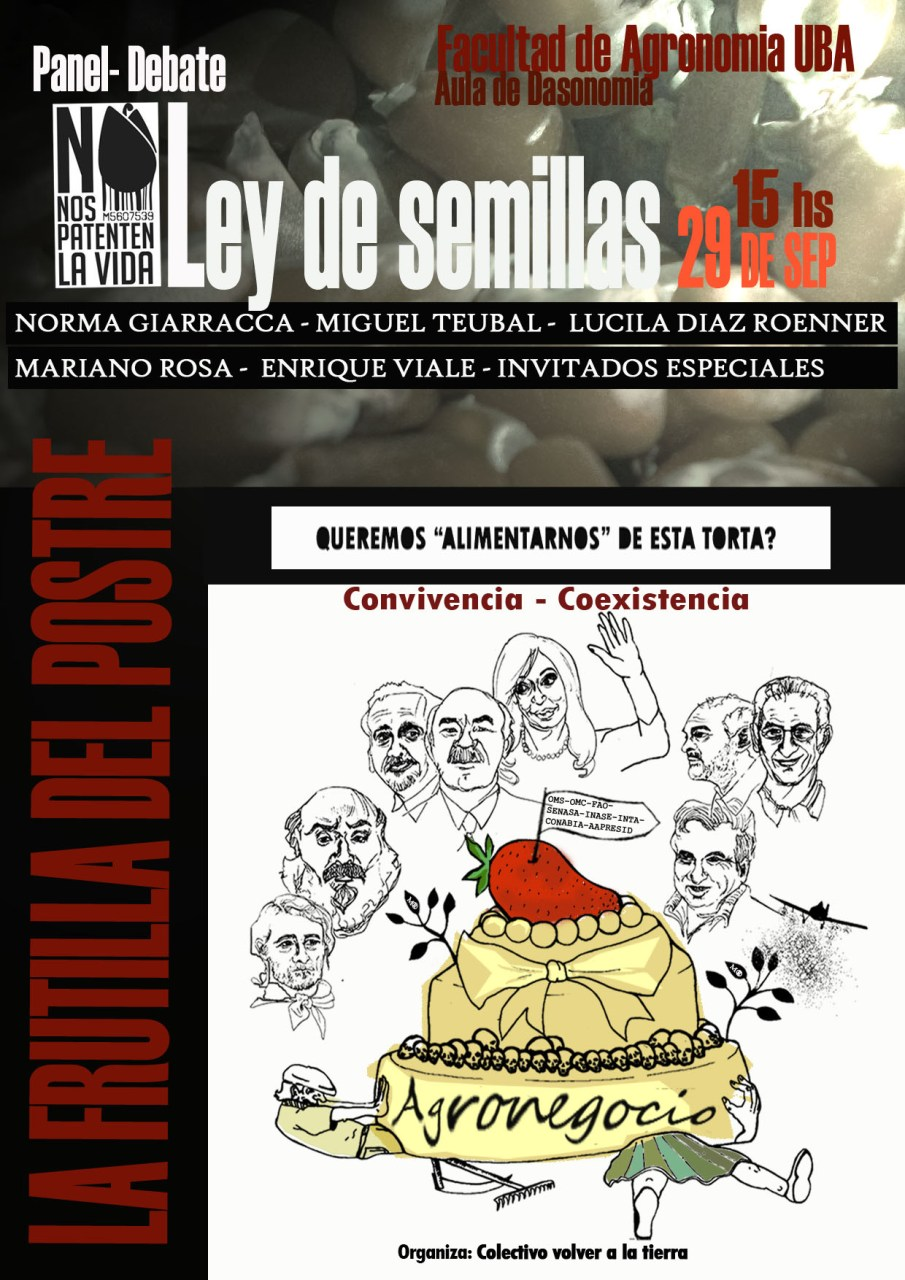 Panel-Debate: la Ley de Semillas y sus implicancias