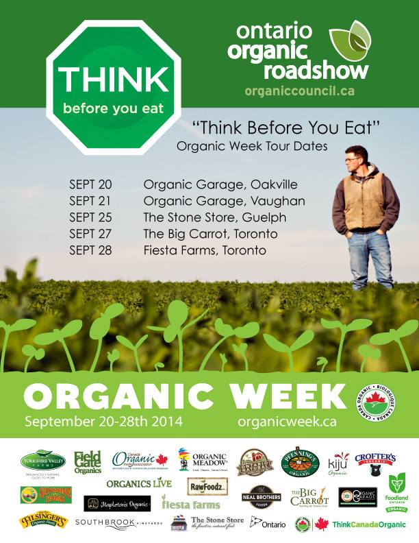 Ontario Organic Roadshow Organic Week Events