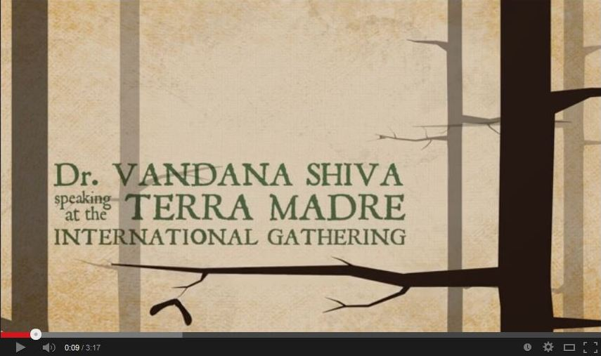 Launch of 'Scarcity' animation video based on Vandana Shiva's speech at TerraMadre 2008