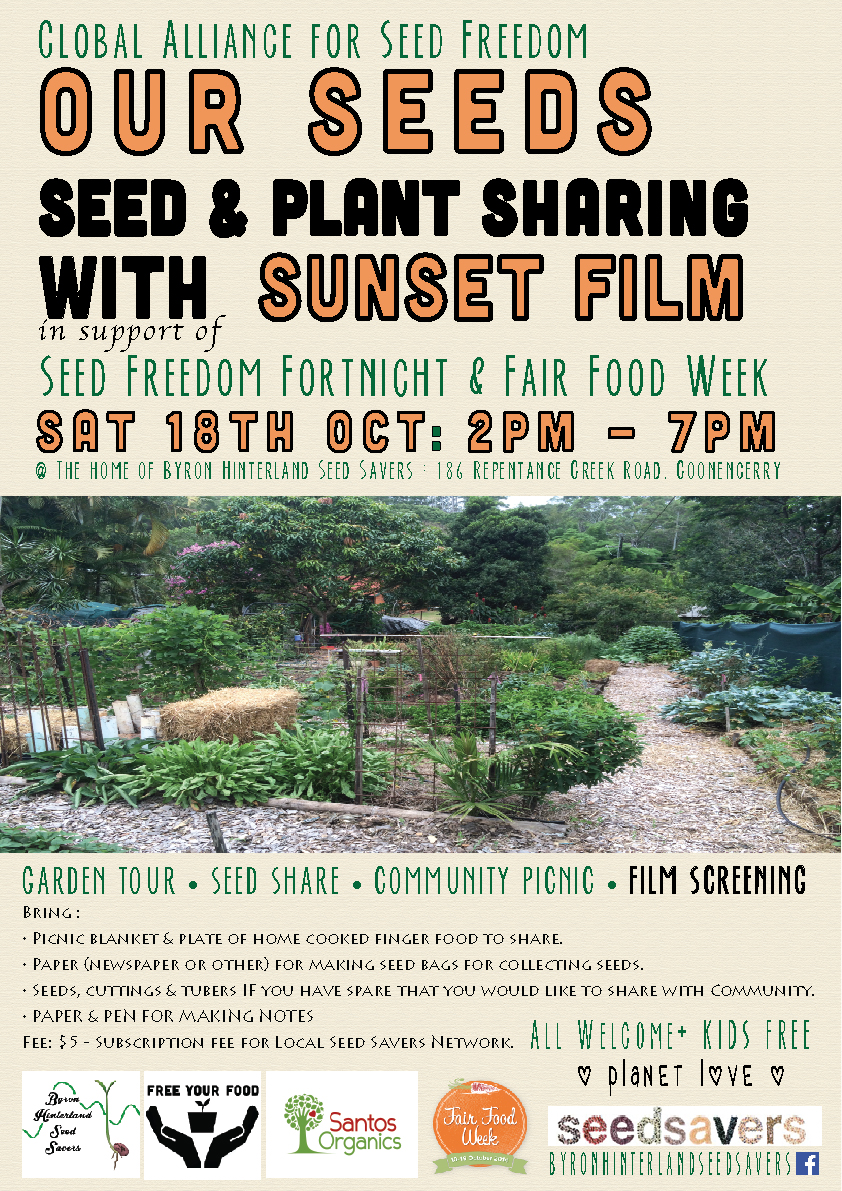 Byron Hinterland Seeds Savers, gathering at the home garden of BHSS