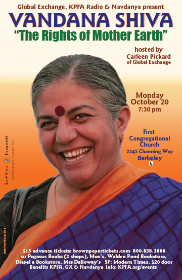 Speaking Event: Vandana Shiva - The Rights of Mother Earth