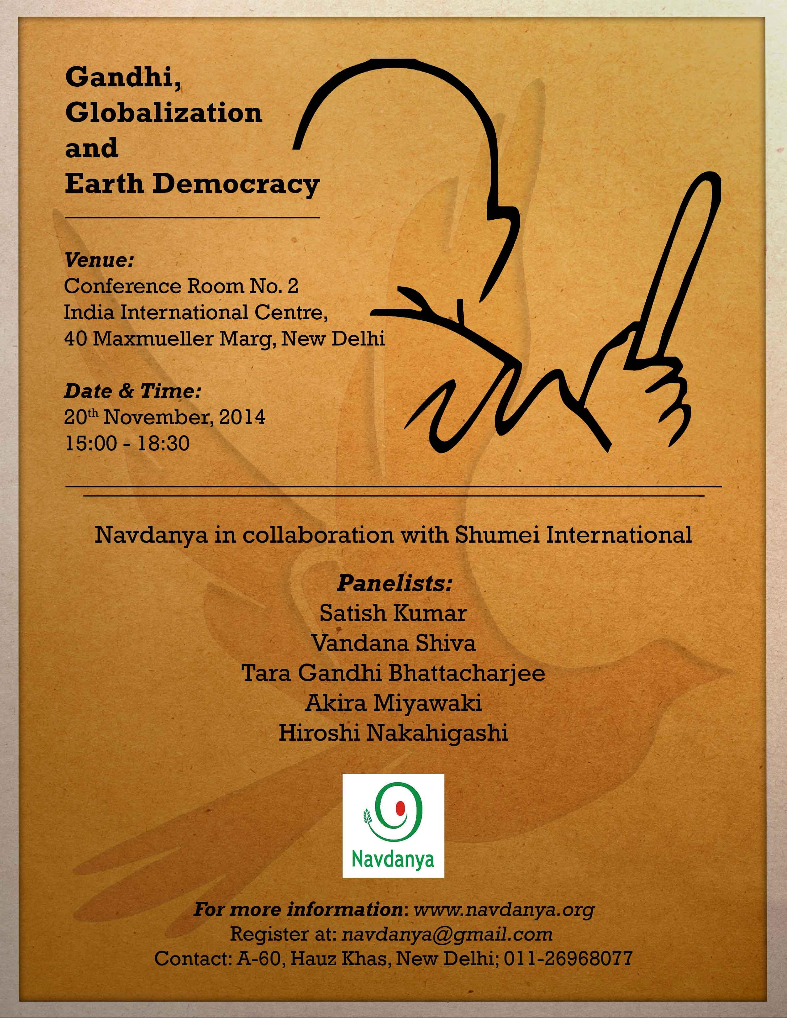 Gandhi, Globalization & Earth Democracy