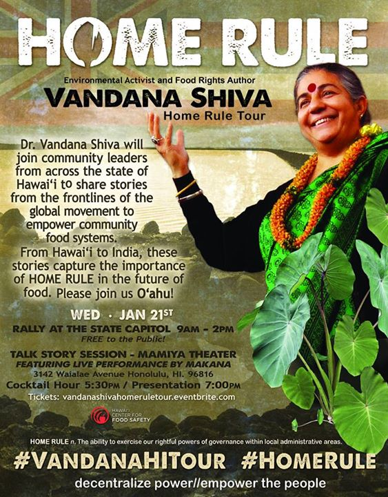 The Vandana Shiva Home Rule Tour