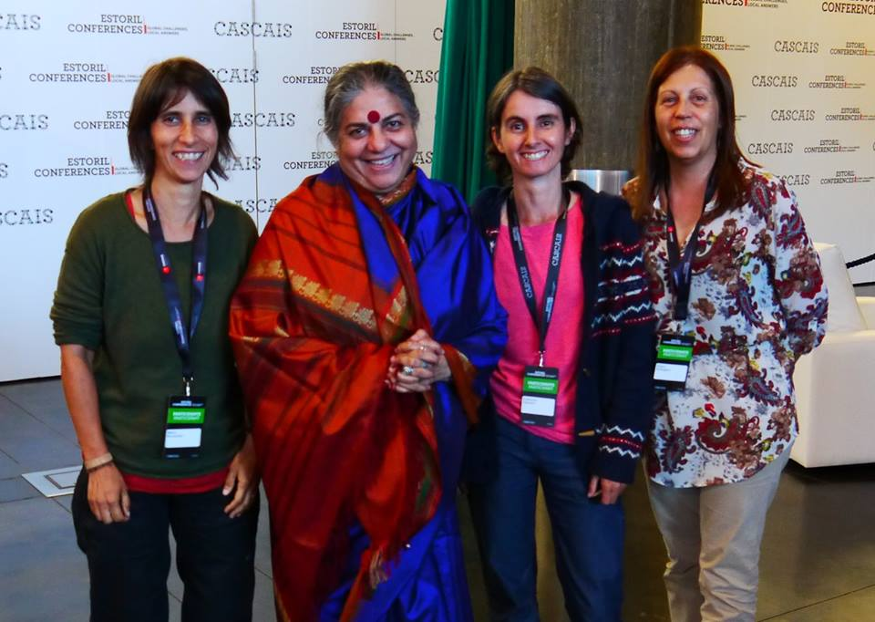 Dr Vandana Shiva with Círculos de Sementes - Circles of Seeds, inspiring Seed Defenders from Portugal and part of The Global Movement for Seed Freedom