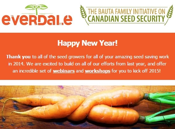 Seed Webinars and Workshops in 2015! By The Bauta Family Initiative on Canadian Seed Security