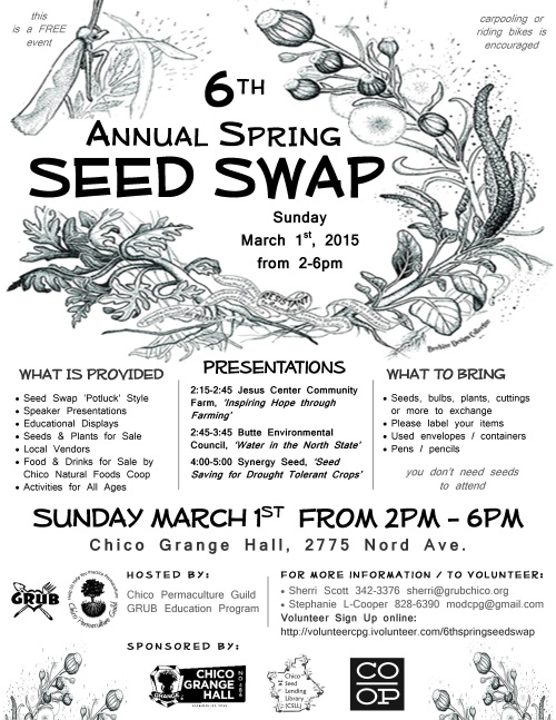 6TH ANNUAL SPRING SEED SWAP