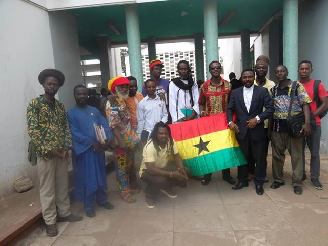 Picture shows some of our members supporters, friends and Lawyer Wayo Tetteh at the High Court Accra.