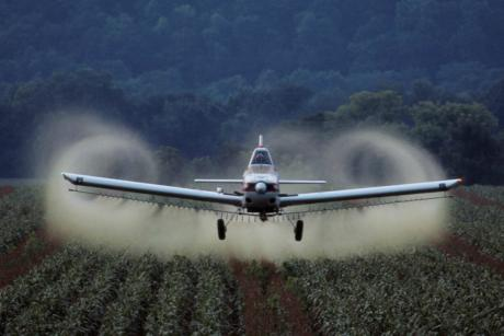 Aerial spraying of pesticides is banned in the EU. [tpmartins/Flickr]
