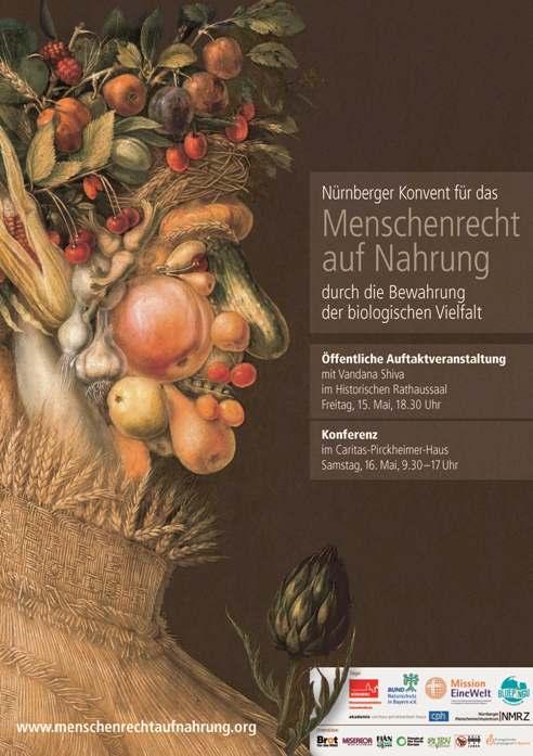 Nürnberger Konvent für das Menschenrecht auf Nahrung mit Vandana Shiva und vielen anderen