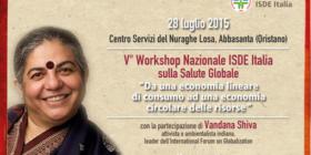 V° Workshop Nazionale e Internazionale ISDE Italia e Sardegna sulla Salute Globale  con Vandana Shiva