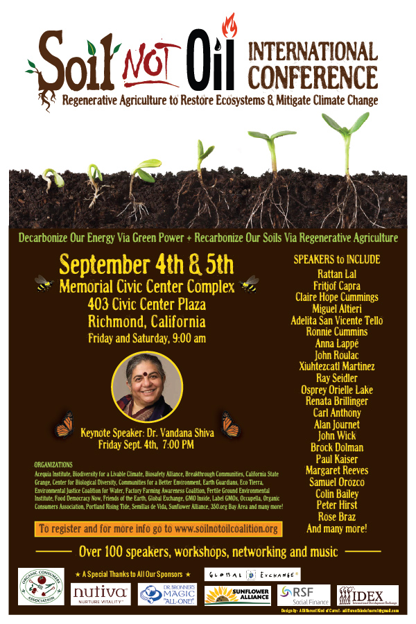 Soil not oil international conference seed freedom for Soil not oil