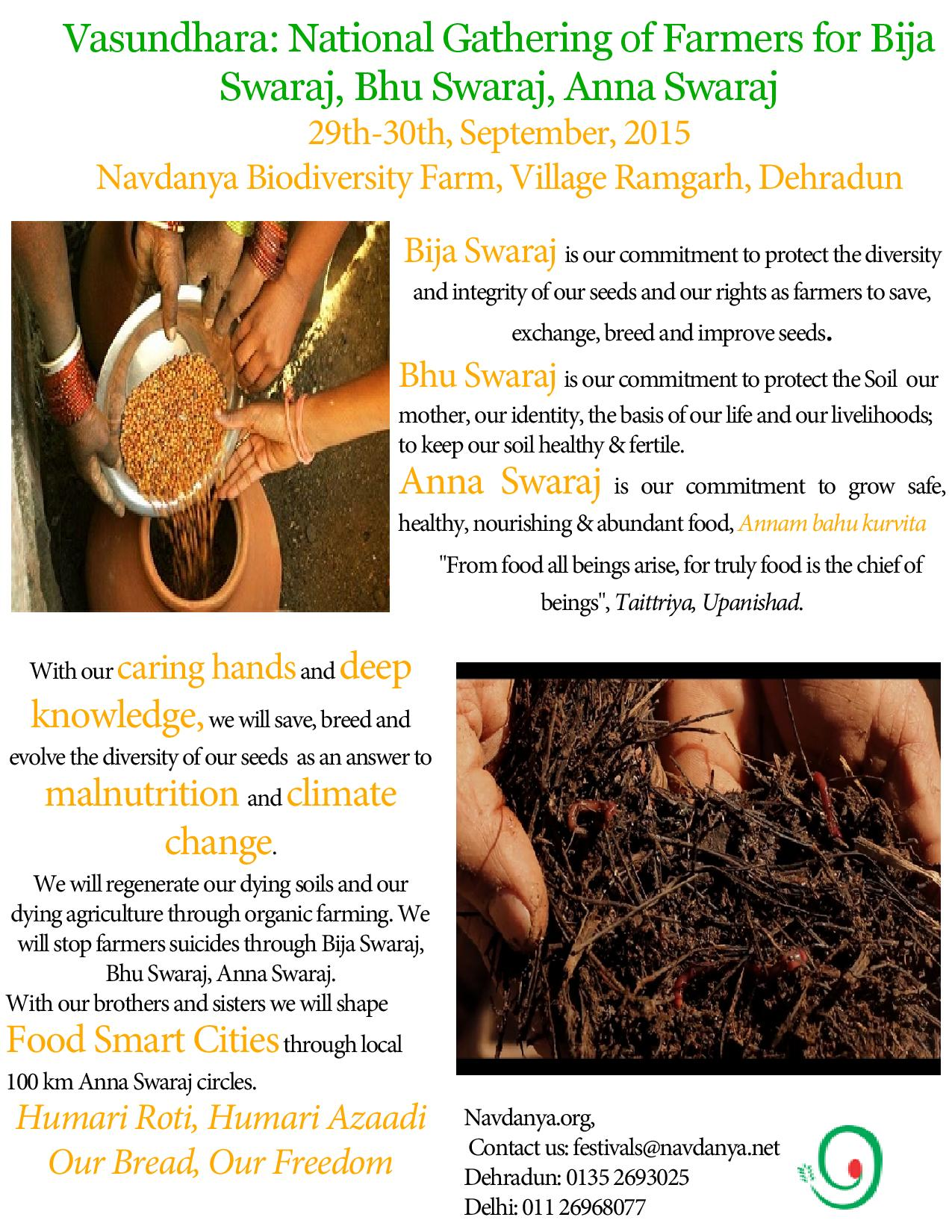 Vasundhara: National Gathering of Farmers