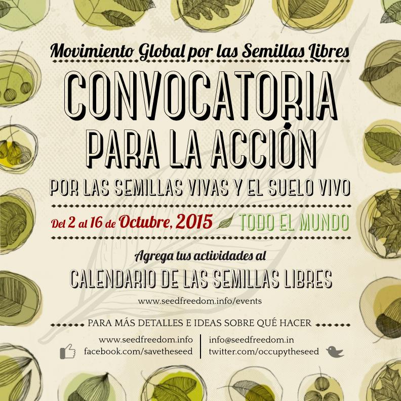 Convocatoria para la Acción por las Semillas Vivas y el Suelo Vivo – 2015