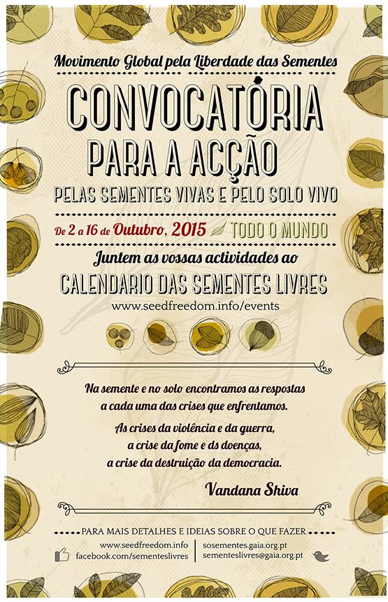 Events coordinated by Campanha pelas Sementes Livres