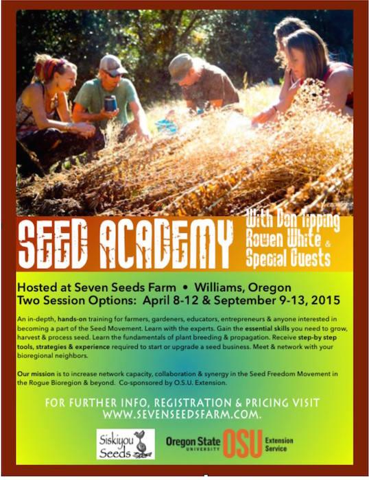 Fall Seed Academy