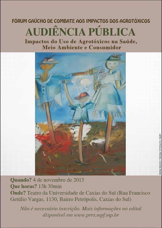 Audiência Pública sobre Agrotóxicos em Caxias do Sul