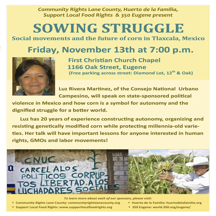 Sowing Struggle: Social movements and the future of corn in Tlaxcala, Mexico