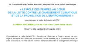 Un colloque Femmes & Environnement / Women & Environment: a debate