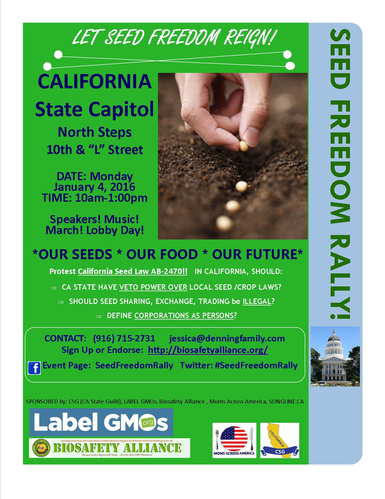 Seed Freedom Rally & Lobby Day