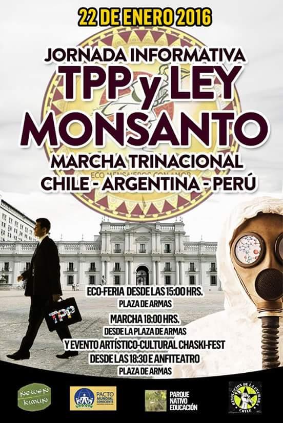NO AL TPP! Marcha trinacional