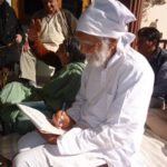 Bahuguna ji writing message