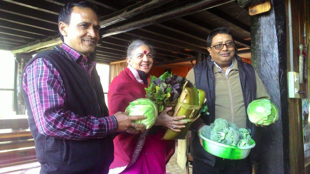 Meeting with farmers in Arunachal Pradesh for Annaswaraj (Food Sovereignty)