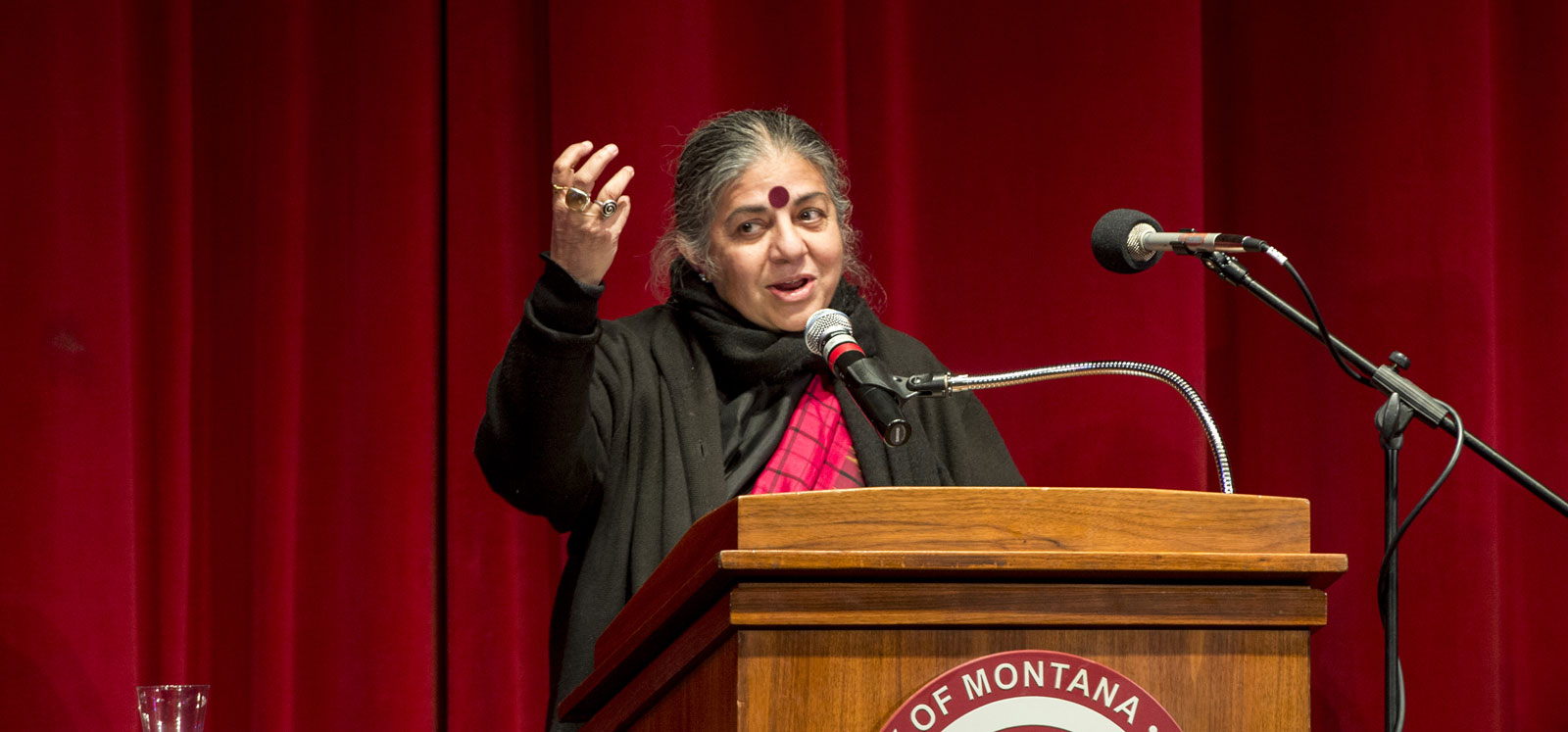 """""""We Are All Seeds: Food Security and Environmental Sustainability"""" Lecture by Dr Vandana Shiva at University of Montana"""