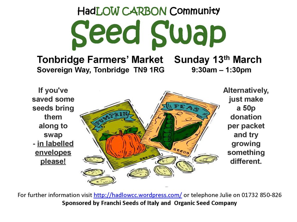 """Seedy Sunday "" Seed Swap"