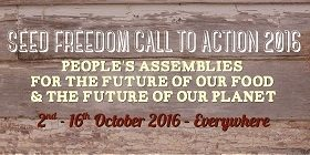 Seed Freedom Call to Action 2016