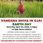 Vandana Shiva in Ojai 8.5. x 11