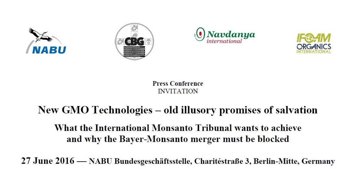 Press Conference: New GMO Technologies – old illusory promises of salvation