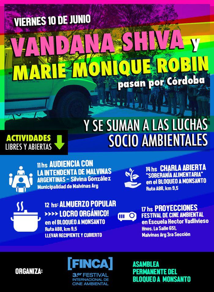 Navdanya in Córdoba, Argentina, with Marie Monique Robin