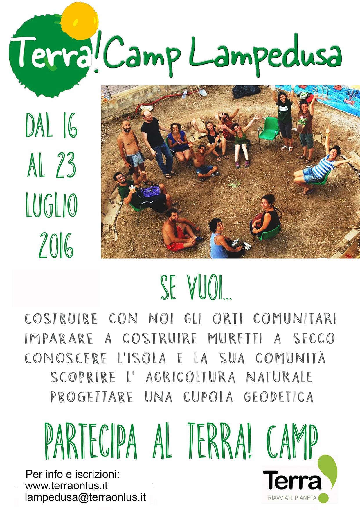 Terra!Camp a Lampedusa 2016