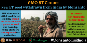 It is time for Monsanto to Quit India