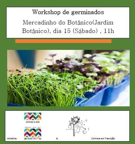 Oficina de germinados - o uso de sementes na culinária