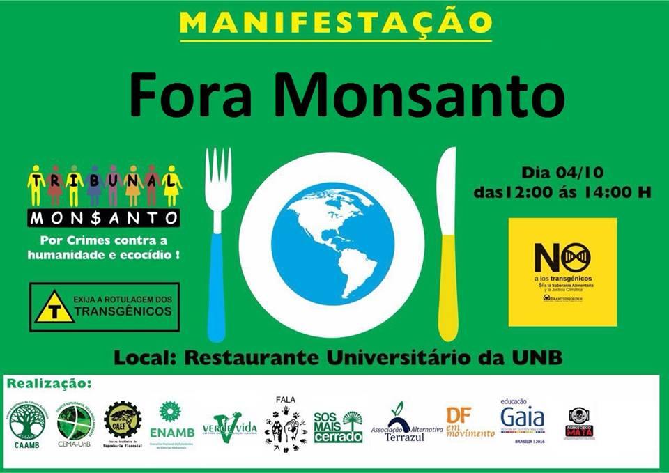Manifestação Fora Monsanto