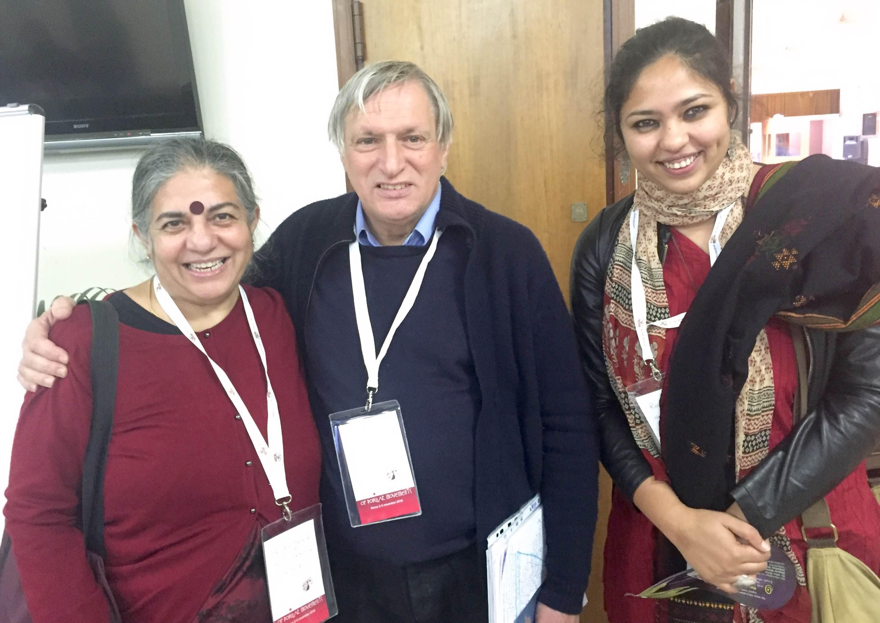 Dr Vandana Shiva, Don Luigi Ciotti and Ruchi Shroff