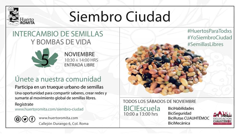 INTERCAMBIO DE SEMILLAS Y BOMBAS DE VIDA