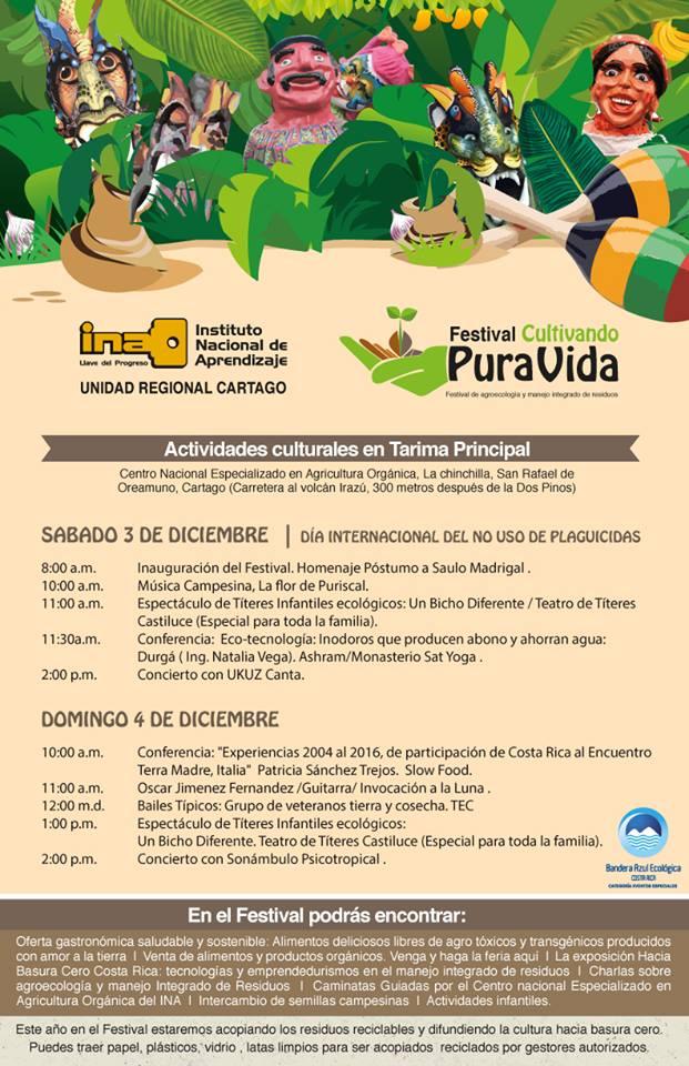 II Festival Agroecológico Cultivando Pura Vida