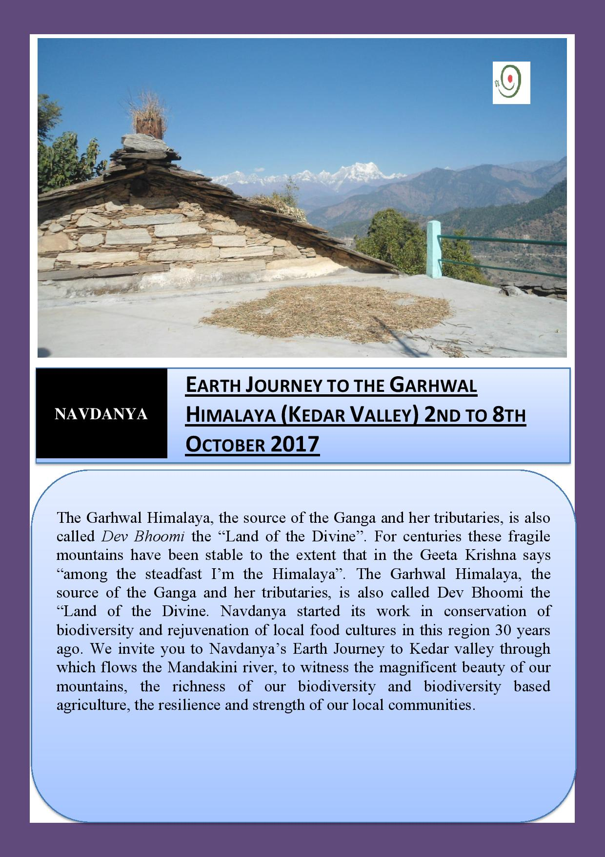 Earth Journeys to the Himalayas: Kedar Valley, Garwhal
