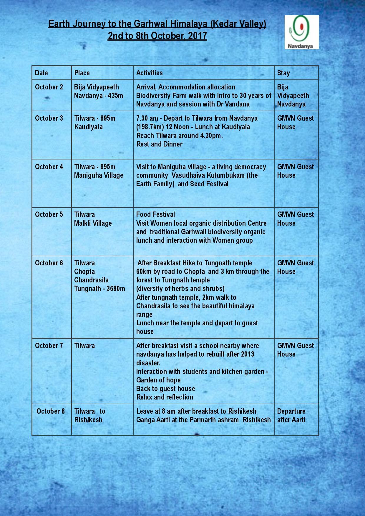 Garhwal Schedule -page-001