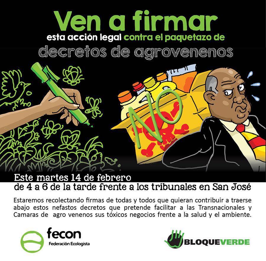 Ciudadanía presenta acción legal en contra de agrovenenos