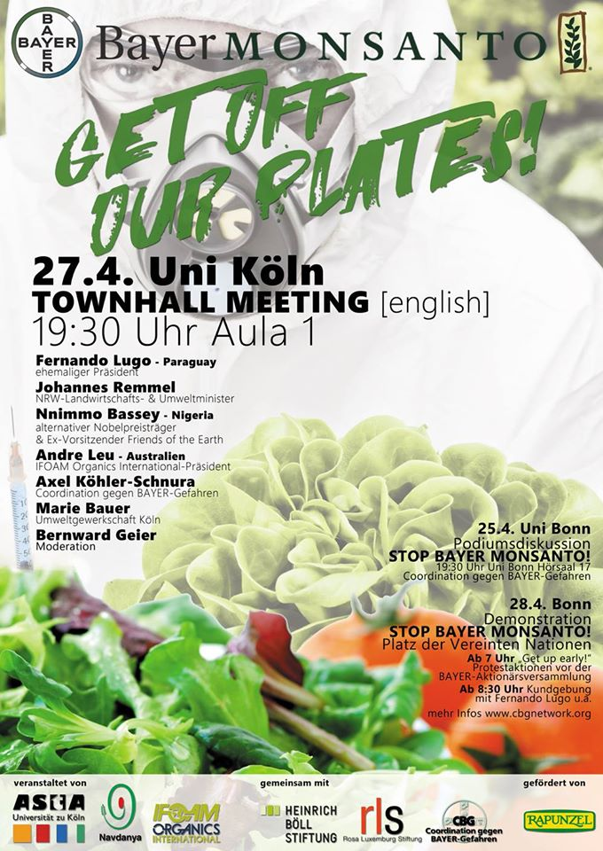 """Bayer-Monsanto: Get-off our Plates!"""" Town Hall Meeting"""