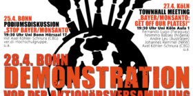 """""""Stop BAYER / MONSANTO"""" days of action in Germany"""