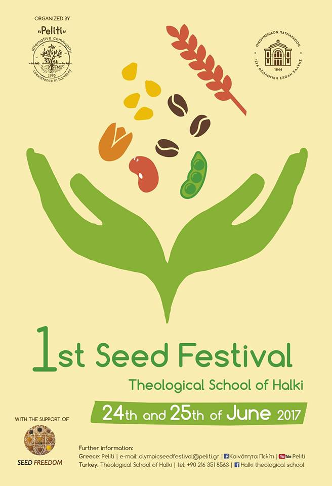 1st Seed Festival in Theological School of Halki in Turkey