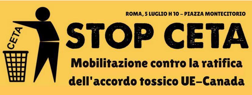 Roma 5 luglio è #stopCETA