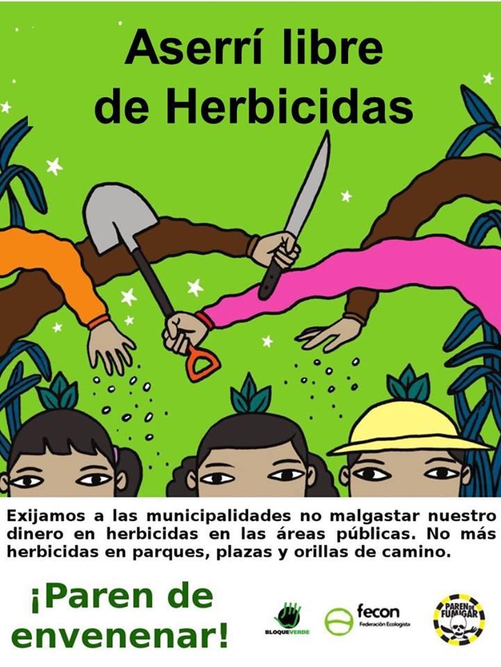 Aserrí cantón libre de herbicidas
